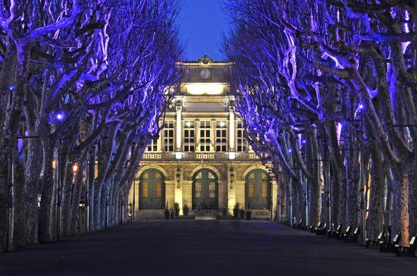 Illuminations des allées Paul Riquet Béziers